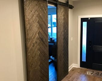 Barn Door, Farmhouse Decor, Barn Board, sliding bar door
