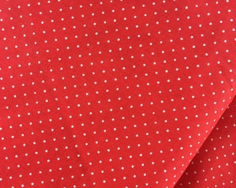 """End of Bolt, Red Small Dot Cotton Fabric from the Basic Brights Collection by Windham Fabrics 27""""x44"""""""