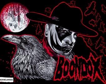 "Boondox ""Bloodletting"" drawing A4/A3 size ART PRINT"