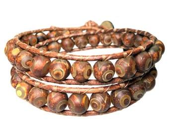 MARS 1-Tibetan Agate bracelet 437