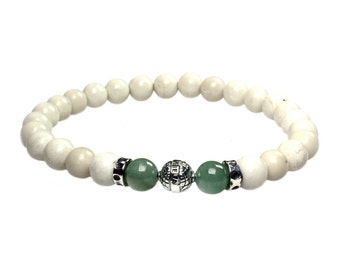 Mens bracelet Luxury B8-Onyx, Aventurine and Sterling Silver 485