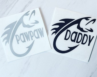 Fish decal, fisherman, fly fish, Decal, Customized Decal, Car Decal, Yeti Decal, Laptop Decal, Tumbler Decal, personalized decal, dad, papa