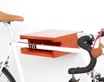 Bike rack in Cherry stain poplar wood