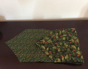 Quilted, Lined and Reversible Holiday Table Runner