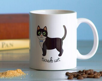 Tuxedo Cat Mug (boy)