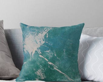 Decorative Throw Cover, Abstract Art throw cushion, home decor, Cushion Cover, Contemporary Art, Seascape, Painting on Cushions, Painting,