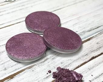 Conjure Eyeshadow Single-Vegan-Hand Pressed Eye Shadow-Eyeshadow-Single 26 mm-Organic Eyeshadow Single, Vegan Purple Gold Eyeshadow Single