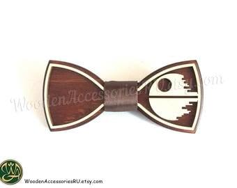 Wood bow tie Death Star Star Wars