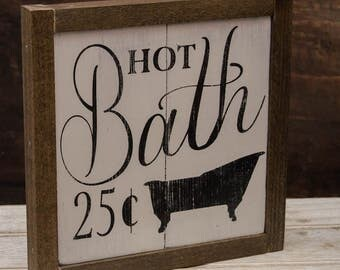 Wooden Bath Sign | Bathroom Sign | Bathroom Wooden Sign | Bath Decor | Country Bathroom Decor | Rustic Bathroom|  Master Bath Decor