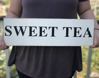 Sweet Tea Wood Sign