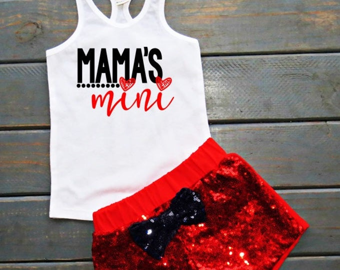 Mama's Mini Outfit, Baby Girl Outfit, Mama's Girl, Mama's Mini Tank, Gifts For Girls, Cute Girls' Clothing