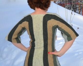 "Digital pattern for sweater ""Vertical stripes"", machine knitting"