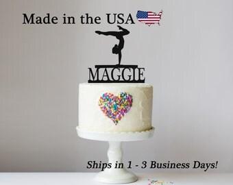 Female Gymnast Cake Topper, Gymnastic Decor, Cake Topper, Female Gymnastist, Cake Toppers, Acrylic, Birthday Party, Cake Decoration, LT1024