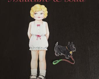 Magnetic Paper Doll & Puppy