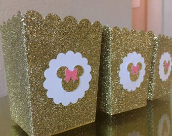 Minnie Mouse Popcorn / Favor Boxes
