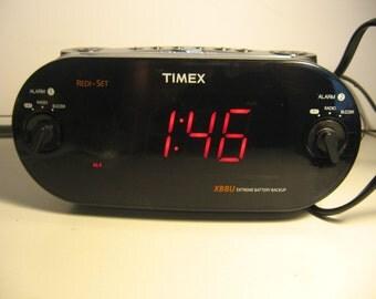 Timex Dual Alarm Clock Radio - Black