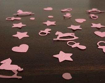 Baby Girl Confetti, Baby Shower Confetti, Pink Confetti, Baby Shower Decorations, Star Confetti, Heart Confetti, Party Table Confetti