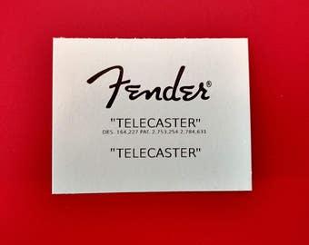 Custom Vintage Fender Telecaster Waterslide in Black