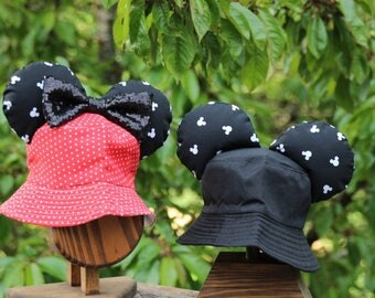Mickey Ears Bucket Hat for Toddler (RED)