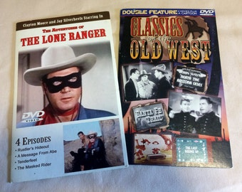 Vintage,  The Lone Ranger & Classics of the old West, Two Dvd's of favorite western movies,Books movies, Music. Home and Living.collectible