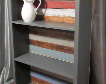 Bookshelf, Pallet Wood Bookshelf, Solid Wood Bookshelf, Display shelves