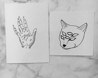 Temporary Tattoos (Set of 2)