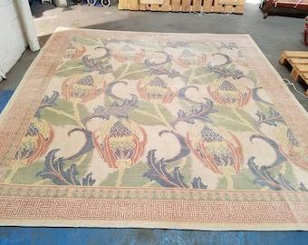 Fabulous Tibetan rug 9.6 x 10.6 carpet
