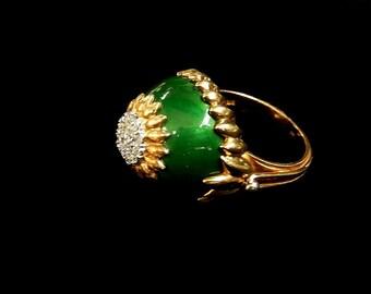 DIAMOND ENAMEL RING