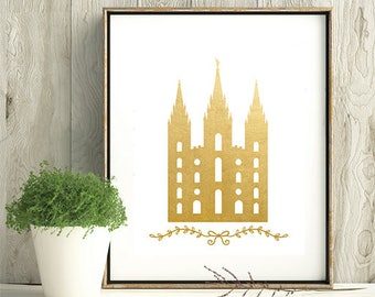 LDS Temple, baptism, Temple print, LDS Home Decor, Instant Download, Digital Printable, Home Decor Print,  LDS Digital Wall Art Print