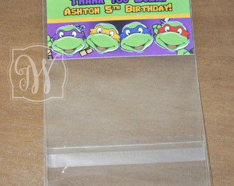 Mutant Ninja Turtle inspire goodie bags - Clear Self Sealing Cello Poly Bag
