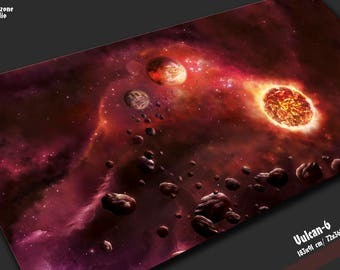 Battle mat:  Vulcan-6 -  space battleboard for sci-fi miniature wargames Star Wars X-wing, Armada,  BFG Gothic
