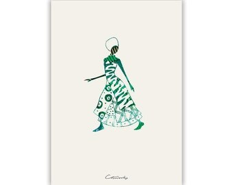 African Woman Printable Poster