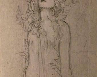 ALPHONSE MUCHA RARE Stunning Original Drawing Signed
