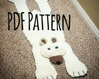 Bear Rug Pattern. Crocheted Bear Rug Pattern. PDF pattern only.