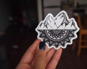 Mountain Mandala Sticker
