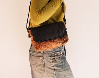 Double Pocket Leather recycled grey suede vacant snake