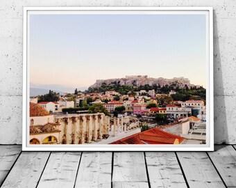Greece Prints, Athens Print, Acropolis print, Parthenon Wall Art, Greek City wall decor, Architecture, historical print, Digital download