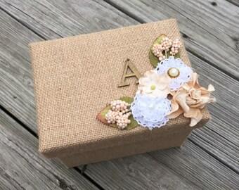 SALE! Gift Box, Monogram Memory Box, Custom Bridesmaid/Bride Gift Box, Rustic Wedding Keepsake Box, Mother of the Bride/Groom Gift Box