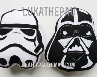 Star Wars pillows embroidered by hand / Lukathepau / pads Darth vader / Colin Storm Trooper / Luka Thepau / decorative cushion