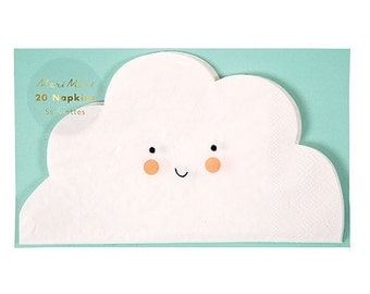 Cloud Napkins, Cloud Party Napkins, Cloud Shaped Napkins, Cloud Party, Baby Shower Napkins, You are my Sunshine, Baby Sprinkle, Clouds