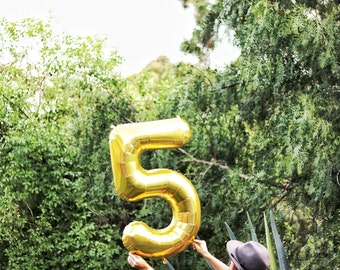Large Number Balloons, First Birthday, Graduation Party, Anniversary Party, 30th Birthday, Sweet 16, Large Balloons, Gold,21st Birthday