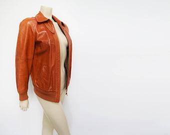 Vintage Leather Jacket, UK10, Nappa Leather, Leather, Vintage Jacket, Biker Jacket, Boho Jacket, Rider, Vintage Clothing, Ladies Leather