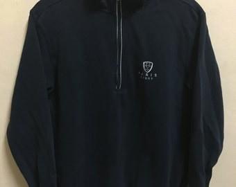 Vintage 90's Paris Sport Black Classic Design Skate Sweat Shirt Sweater Varsity Jacket Size M #A631