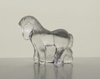 Vintage Glass Horse Figurine