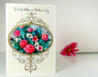Vintage mother's day card for a new mother, Carlton Cards, American Greetings