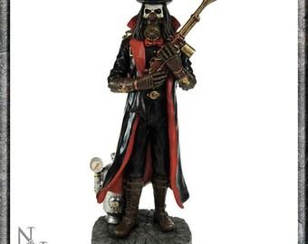 Hand Painted Steampunk Grim Reaper Fantasy Statue