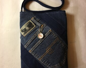 Denim Crossbody Purse and Matching Coin Purse