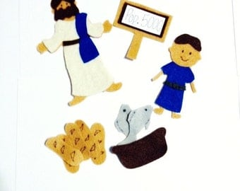 Jesus Feeds 5000 Bible Felt Set**Sunday School/Homeschool**
