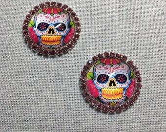 Needleminder Rhinestone Sugar / Candy Skulls
