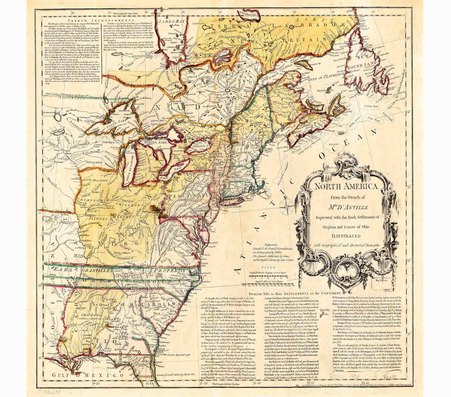 Colonies Map Vintage US Map Canvas Map Old Wall Art - Us map 13 colonies